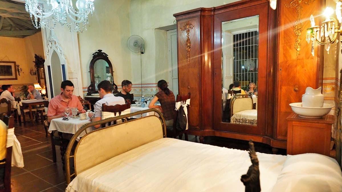 eating at Sol Ananda in Trinidad