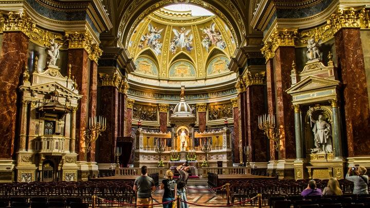 budapeste-aziz-stephen-bazilikasi-iç