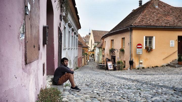 sighişoara-sokak-romanya